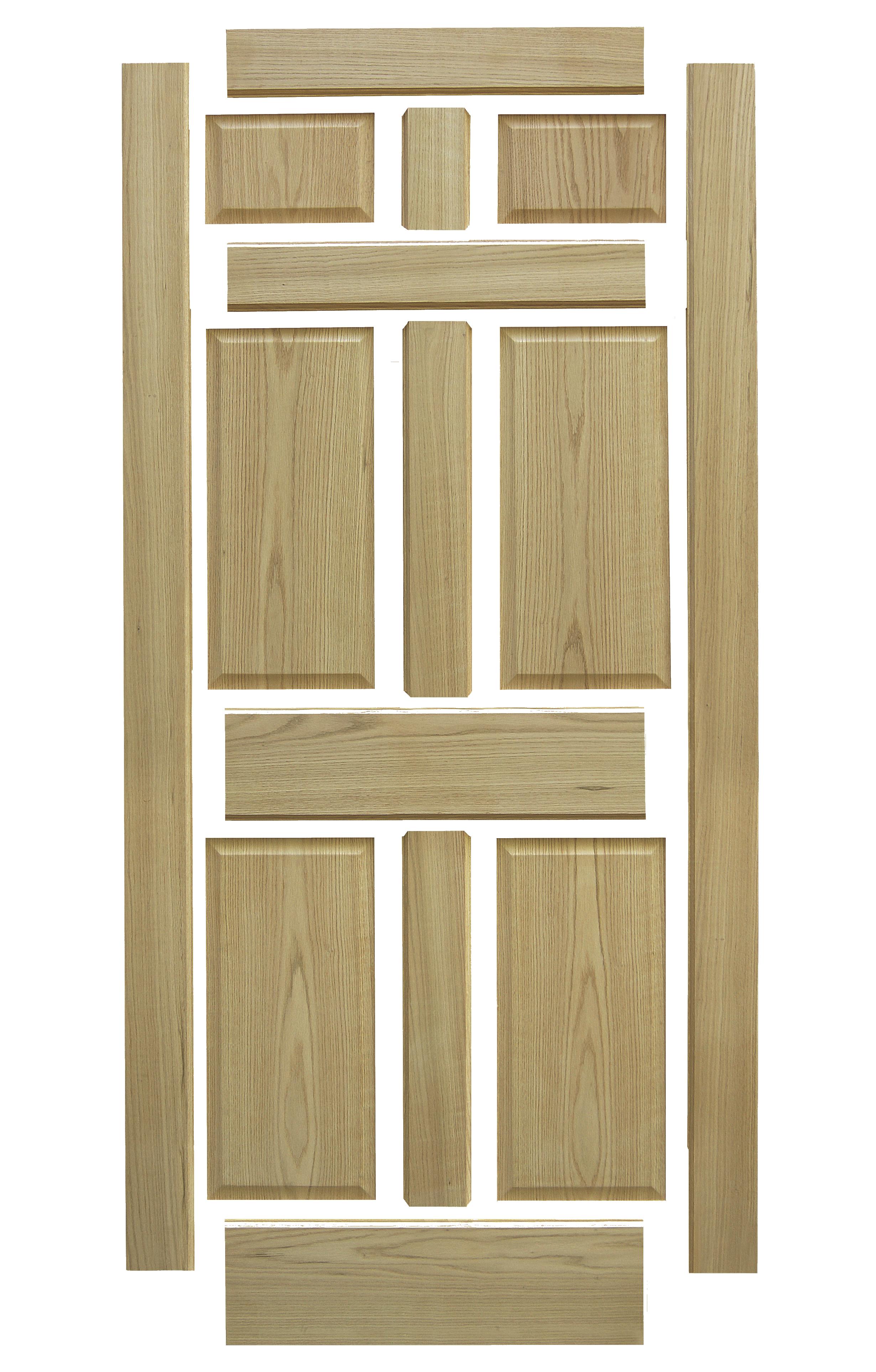 stile and rail wood door diagram