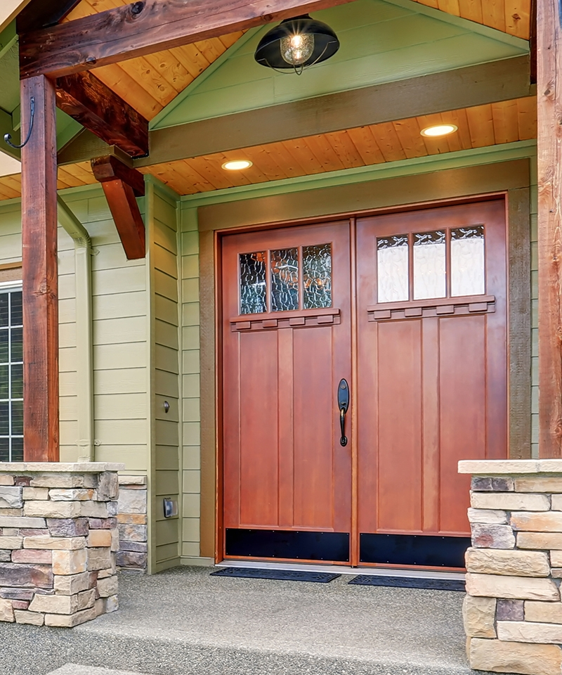 Evermark exterior wood stile and rail doors