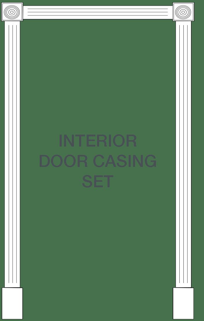 interior door casing diagram