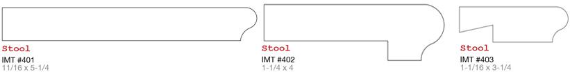 Evermark IMT millwork window stool or window sill